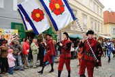 Five-petalled Rose Festival in Cesky Krumlov — Stock Photo
