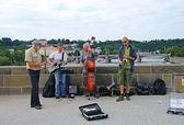 Músicos em praga — Fotografia Stock