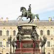 Monument to Nicholas I on IsaakievskaySquare in St-Petersburg, — Stock Photo #9462032