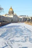 St. petersburg, russland in einem winter — Stockfoto