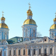 Domes of St. Nicholas Cathedral in St. Petersburg, Russia — Foto de Stock