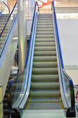 Modern moving escalator — Stockfoto