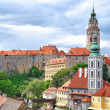 The roofs of Cesky Krumlov - Stock Photo