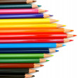 Royalty-Free Stock Photo: Colour pencils on a white background.