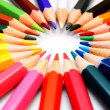 Colour pencils on a white background. — Stock Photo