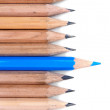 Pencils on a white background. — Foto de Stock