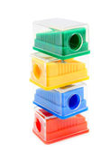 Sharpeners colour. On a white background. — Foto Stock