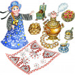 Traditional Russian tea party set — Stock Photo #9124027