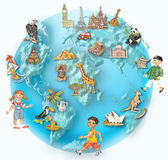 Globe illustration — Foto Stock