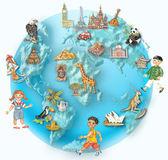 Ilustração do globo — Foto Stock