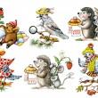 Cartoon animals - Foto Stock