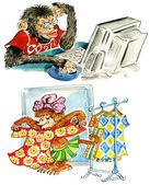Kreskówka małpy — Zdjęcie stockowe