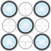 Crosshairs — Stock Vector