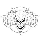Devil's skull — Stock Vector