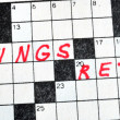 The Words Savings and Retire on Crossword Puzzle — Stock Photo