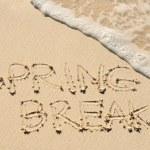 Spring Break Written in the Sand on a Beach — Stock Photo