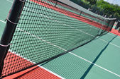 Tennis Court and Net — Stock Photo