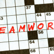 Stock Photo: The Word Teamwork on Crossword Puzzle