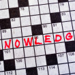 Stock Photo: The Word Knowledge on Crossword Puzzle