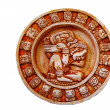 Mayan calendar isolated — Stock Photo