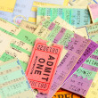 Ticket stubs — Stock Photo