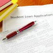 Stock Photo: Student loan application