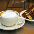 Coffee and chocolate cake — Stock Photo #9319779