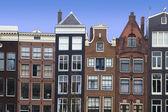 Amsterdam kanal evleri — Stok fotoğraf