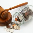 Stock Photo: Gavel and money