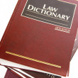Stock Photo: Law dictionary