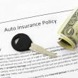 Stock Photo: Auto insurance policy
