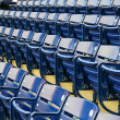 Rows of empty seats at a stadium — Stock Photo #9322107