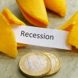 Stock Photo: Recession message