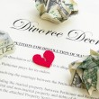 Divorce document — Stock Photo