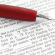 Mortgage application and pen — Stock Photo
