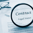 Legal contract — Stock Photo