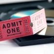 Ticket and DVD — Stock Photo #9325194
