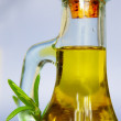 Olive oil and rosemary — Stock Photo