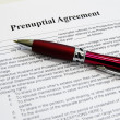 Prenuptial agreement — Stock Photo