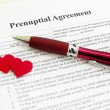 Stock Photo: Prenuptial agreement