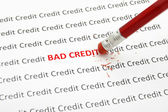 Fixing bad credit — Stock Photo