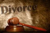 Divorce text — Stock Photo