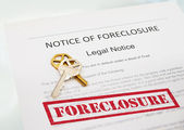 Notice of Foreclosure — Stock Photo