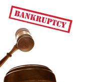 Gavel with bankruptcy text — Stock Photo