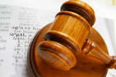 Court gavel and legal definition — Stock Photo
