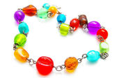 Glass bead necklace — Stock Photo