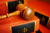Gavel and law books — Stock Photo