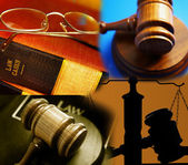 Assorted law images — Stock Photo