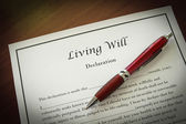 Living Will — Stock Photo