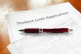 Заявка на кредит студента — Стоковое фото